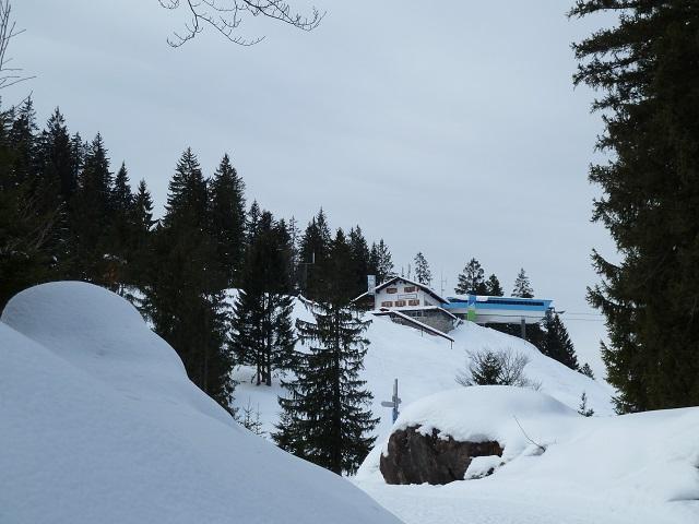 Bergstation der Hornbahn im Winter