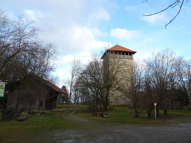 Der Römerturm in Großkemnat bei Kaufbeuren