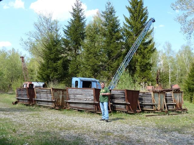 Reste des ehemaligen Torfwerks im Wurzacher Ried