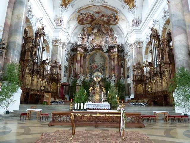 Basilika Ottobeuren Altarraum