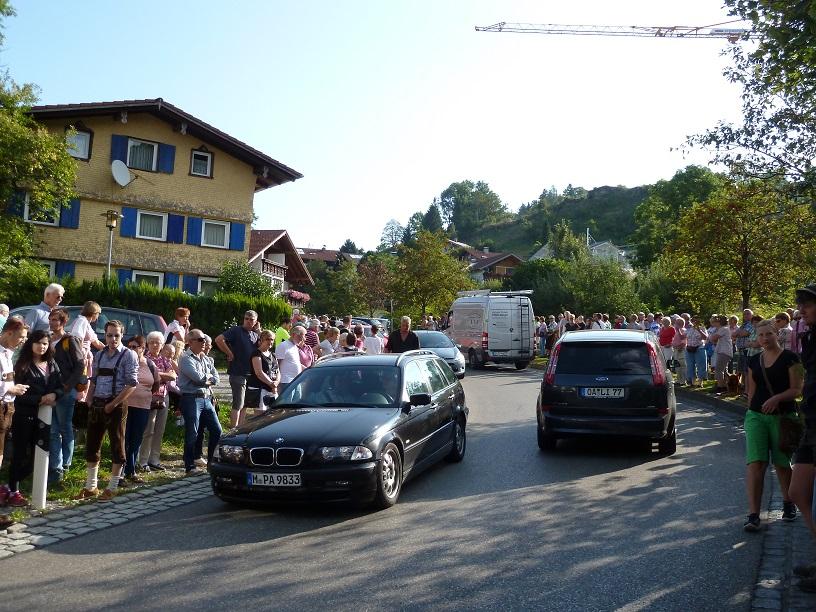Viel Verkehr zum Viehscheid in Kranzegg