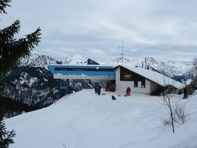 Bergstation der Hornbahn Hindelang am Imberger Horn