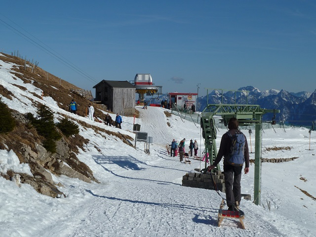 Die Bergstation der Breitenbergbahn im Winter