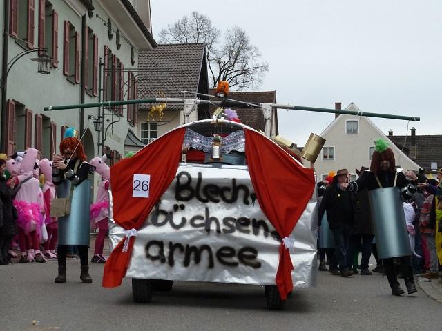 Faschingsumzug Obergünzburg 2017 - Blechbüchsen-Armee