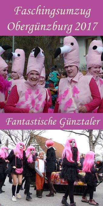 Fantastische Kostüme im Fasching auf dem Umzug am Faschingssonntag 2017 in Obergünzburg