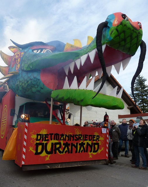 Faschingsumzug Ronsberg 2017 - Dietmannsrieder Duranand mit Drachen