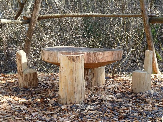 Picknickplatz für Zwerge am Naturerlebnispfad Görisried