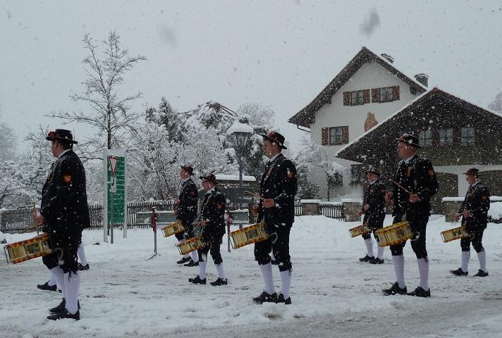 Trommler am Fasnatziestag in Oberstaufen