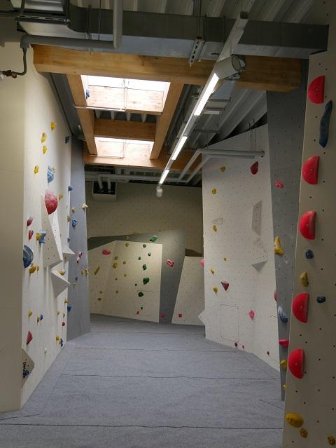 Boulder-Gänge in der Kletterhalle Kempten