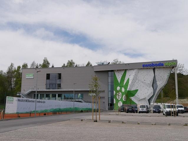 Kletterhalle swoboda alpin Kempten - Außenansicht