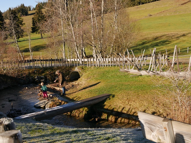 Wasserspielplatz Trettenbach zwischen Weitnau und Wilhams