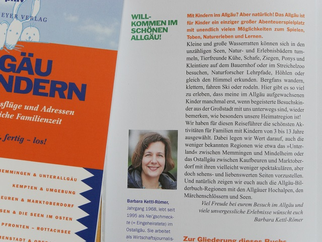 Blick in den Reiseführer Allgäu mit Kindern - Autorenportrait Barbara Kettl-Römer