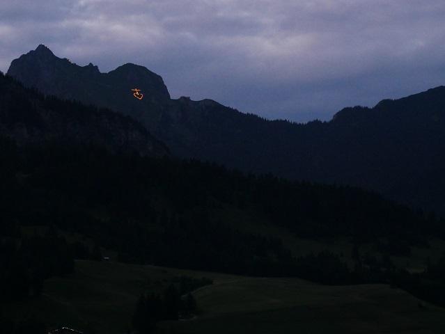 Feuerherz am Aggenstein im Tannheimer Tal