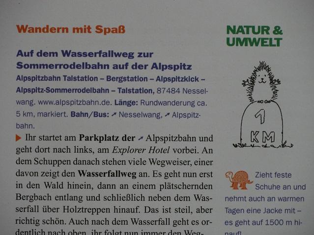 Blick in den Reiseführer Allgäu mit Kindern - Rubrik Natur und Umwelt