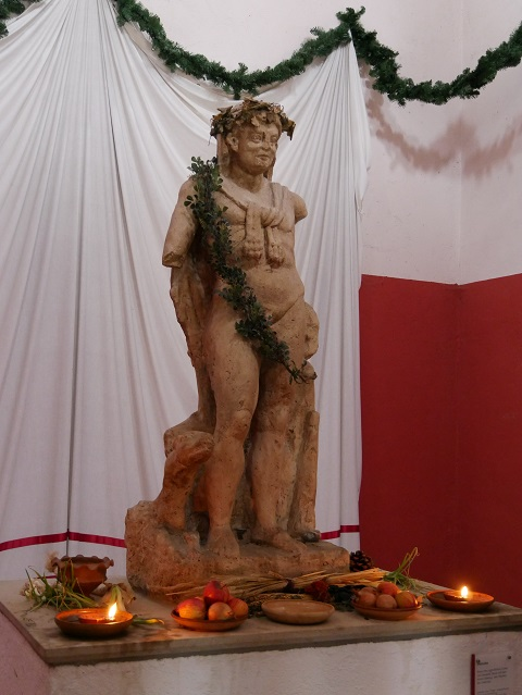 Statue im Herkulestempel in Kempten
