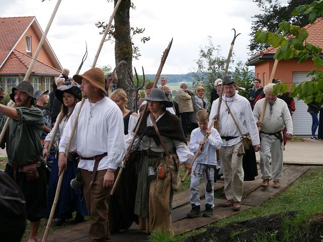 Einzug Schillingsfürster Bauernhaufen zu Anno 1525 in Bad Grönenbach