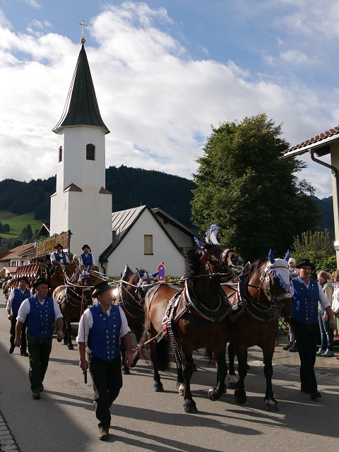 Pferdegespann zum Biertransport