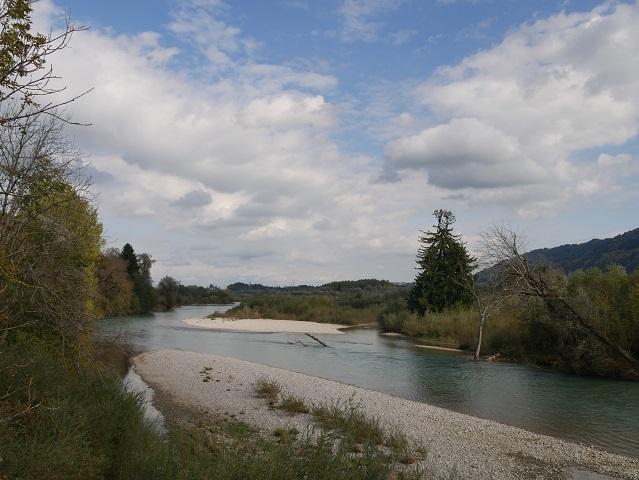 Blick vom Illersteg bei Untermaiselstein auf den Fluss