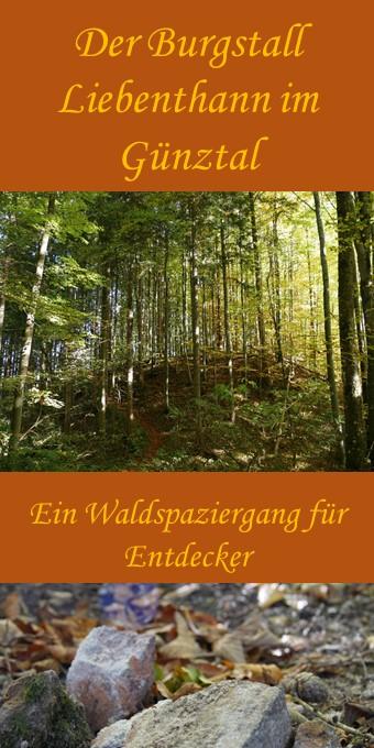 Spaziergang zum Burgstall Liebenthann bei Obergünzburg im Allgäu