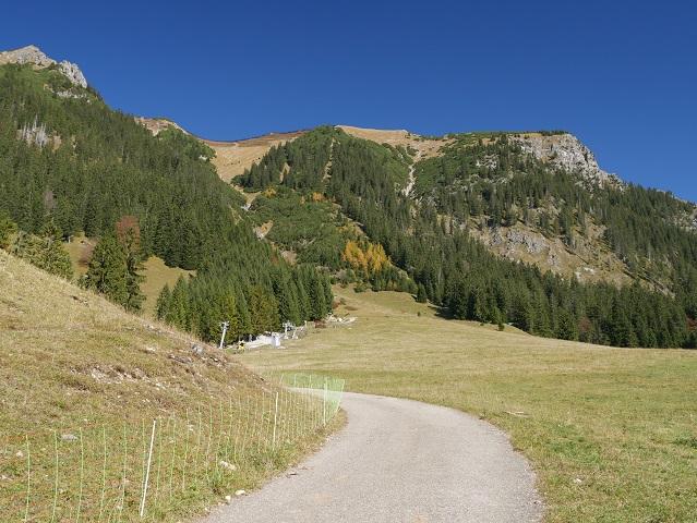 Rundwanderweg Seealpe am Nebelhorn - am Anfang des Weges