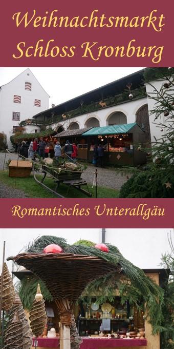 Romantischer Weihnachtsmarkt Schloss Kronburg im Illerwinkel 2017