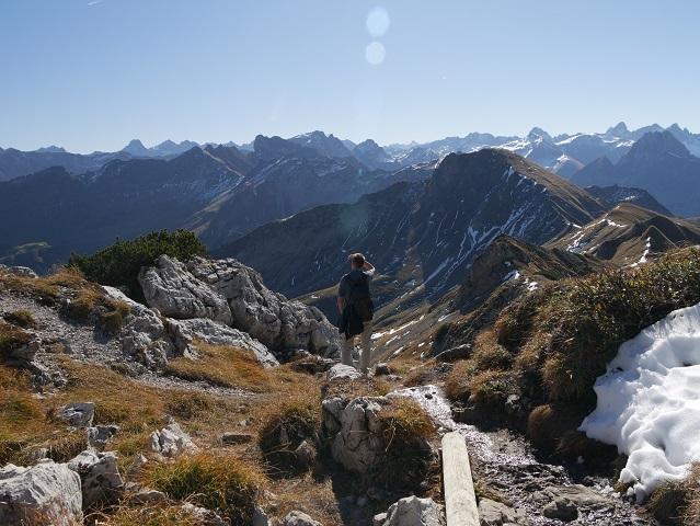 Aussicht - Wanderung auf dem Nebelhorn #FopaNet