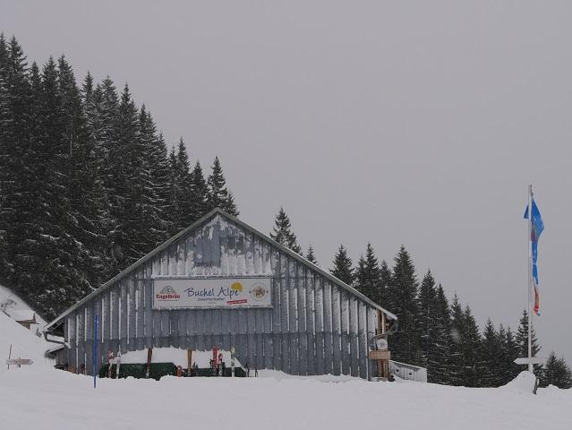Die Buchel Alpe bei Unterjoch im Winter