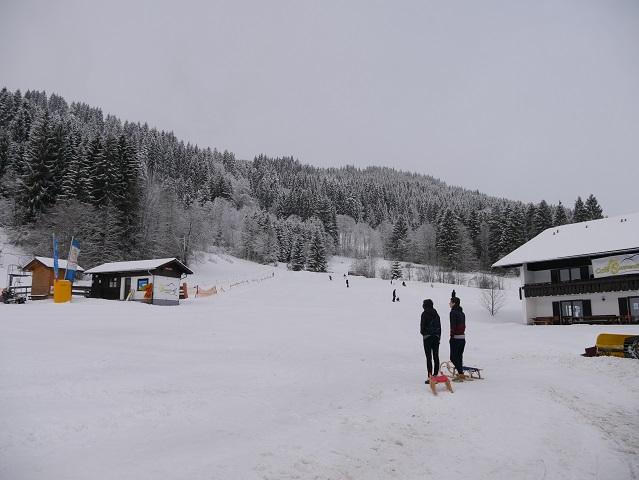 Winterwanderung zur Gundhütte - Startpunkt am Skilift Sonnenhang