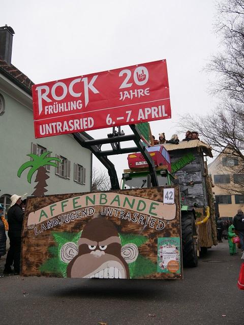 Affenbande aus Untrasried auf dem Faschingsumzug Obergünzburg 2018
