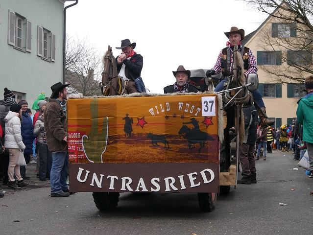 Coole Cowboys aus Untrasried auf dem Faschingsumzug Obergünzburg 2018
