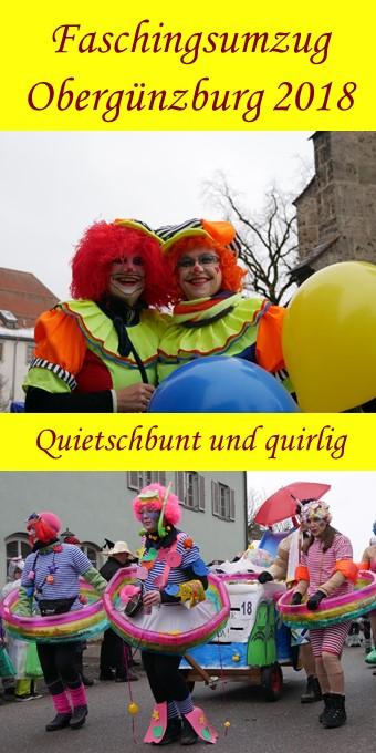 Faschingsumzug Obergünzburg 2018 - zum Pinnen