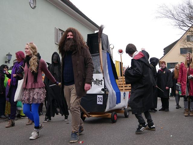 Hogwarts auf dem Faschingsumzug Obergünzburg 2018