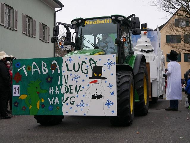 Tabaluga-Truppe aus Haldenwang auf dem Faschingsumzug Obergünzburg 2018