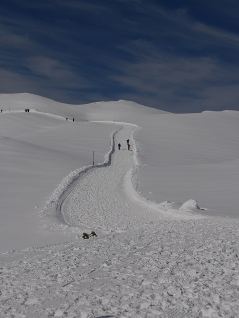 Winterwanderweg am Hofen Ifen - dem Himmel entgegen