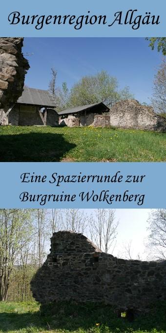 Burgruine Wolkenberg im Allgäu - Pin