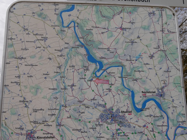 Wanderkarte der Region um Altusried