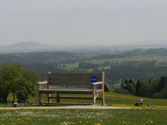 Allgäu-Wanderbank bei Mittelberg