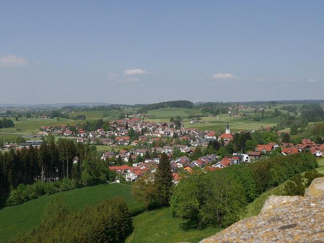 Blick auf Sulzberg im Allgäu