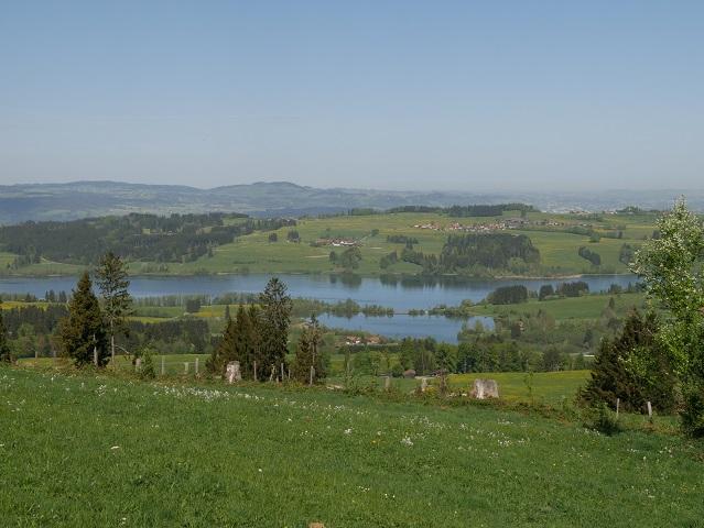 Blick vom Panoramaweg Oy-Mittelberg über den Rottachsee nach Norden