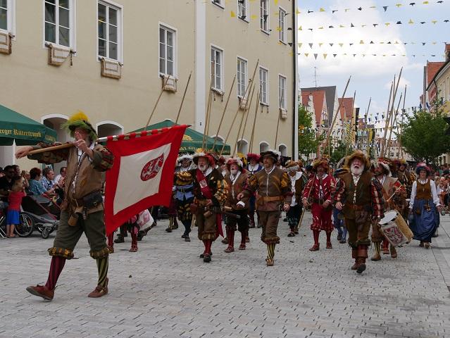 Fähnlein rechberg auf dem Frundsbergfest 2018