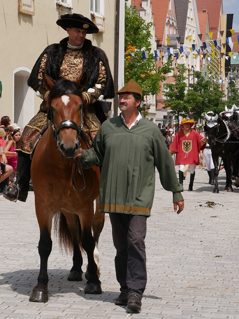 Kaiser Maximilian I auf dem Frundsbergfest Mindelheim 2018