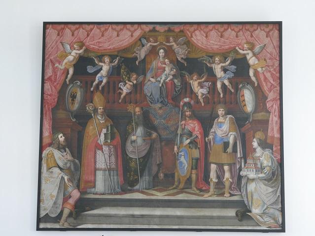Karl der Große und Hildegard im Fürstensaal der Residenz Kempten