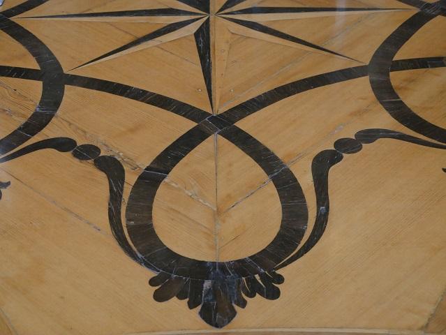 Parkett mit Intarsien - Detail aus der Residenz Kempten