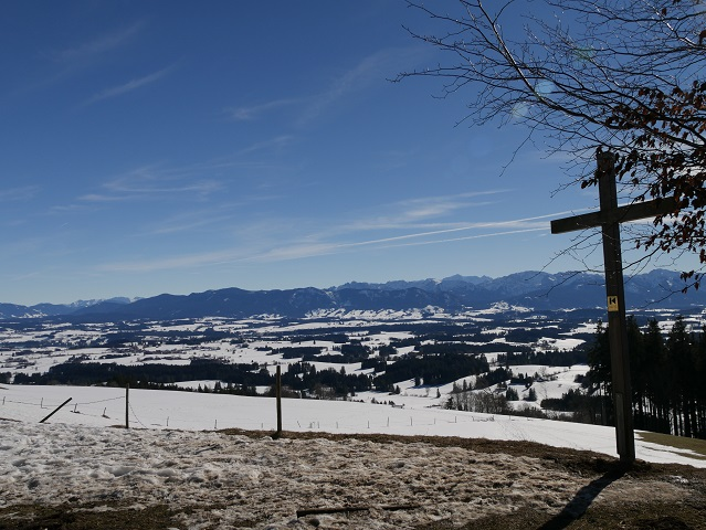 Panoramablick vom Aussichtspunkt Buffernandl auf dem Auerberg