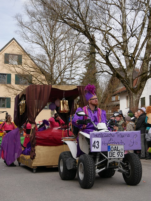 Faschingsumzug Obergünzburg 2019 - Orientalische Träume in Hopferbach
