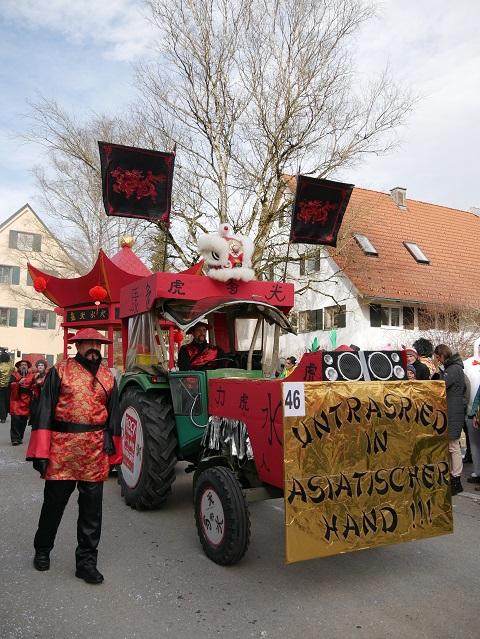 Faschingsumzug Obergünzburg 2019 - Untrasried in asiatischer Hand - Wagen