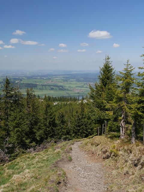 Abstieg vom Gipfel der Reuterwanne