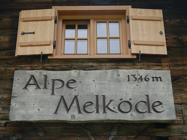 Infotafel an der Alpe Melköde