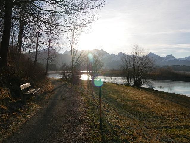 am Forggensee-Uferweg bei Waltenhofen