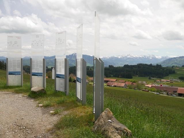 Bergpanoramatafeln im Allgäuer Bergbauernmuseum in Diepolz